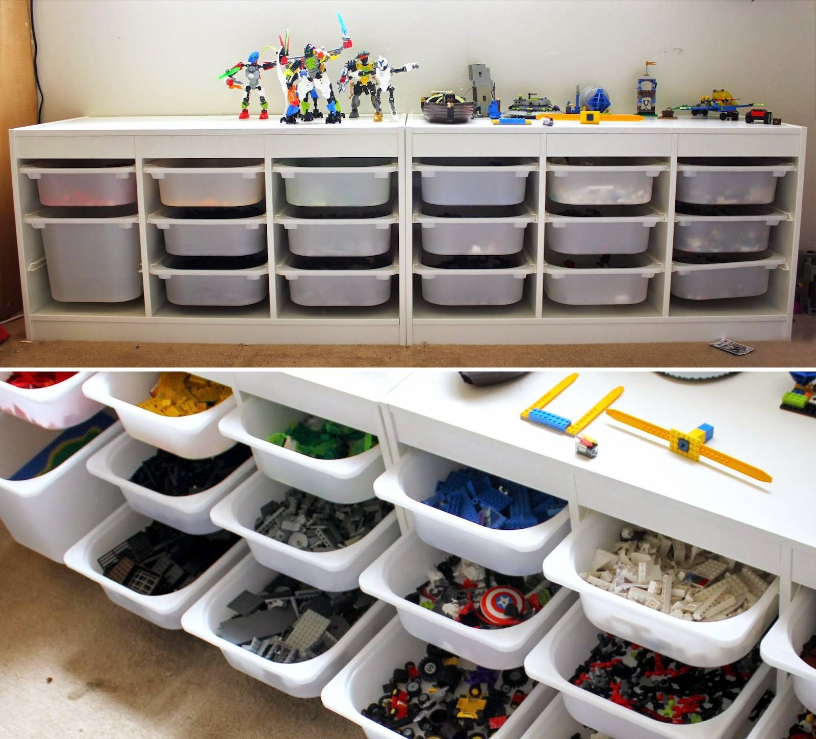 Как хранить lego в доме с маленьким ребенком