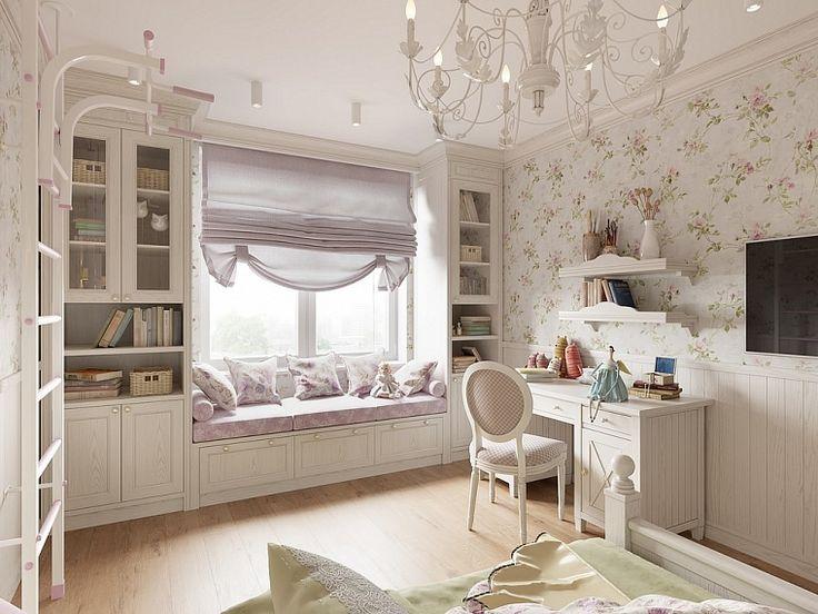 Детская в стиле прованс - дизайн и оформление комнаты для девочки и мальчика, планировка, зонирование, идеи интерьера + фото