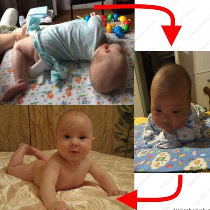 Когда ребенок начинает держать голову самостоятельно и как помочь малышу