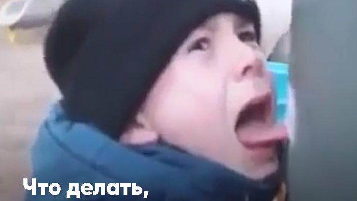 Язык примерз на морозе к железу – что делать, как помочь ребенку