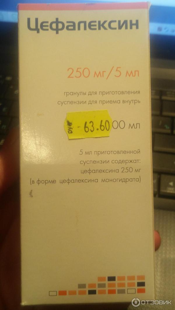 Инструкция по применению антибиотика цефалексин