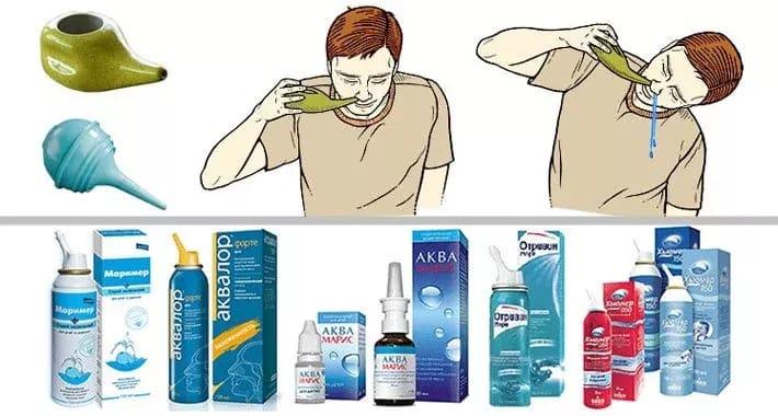 Чем промывать нос при насморке в домашних условиях?