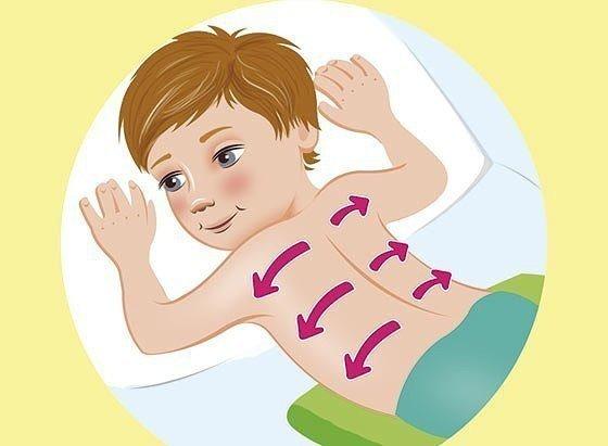 Растирание при кашле у детей до 1 года