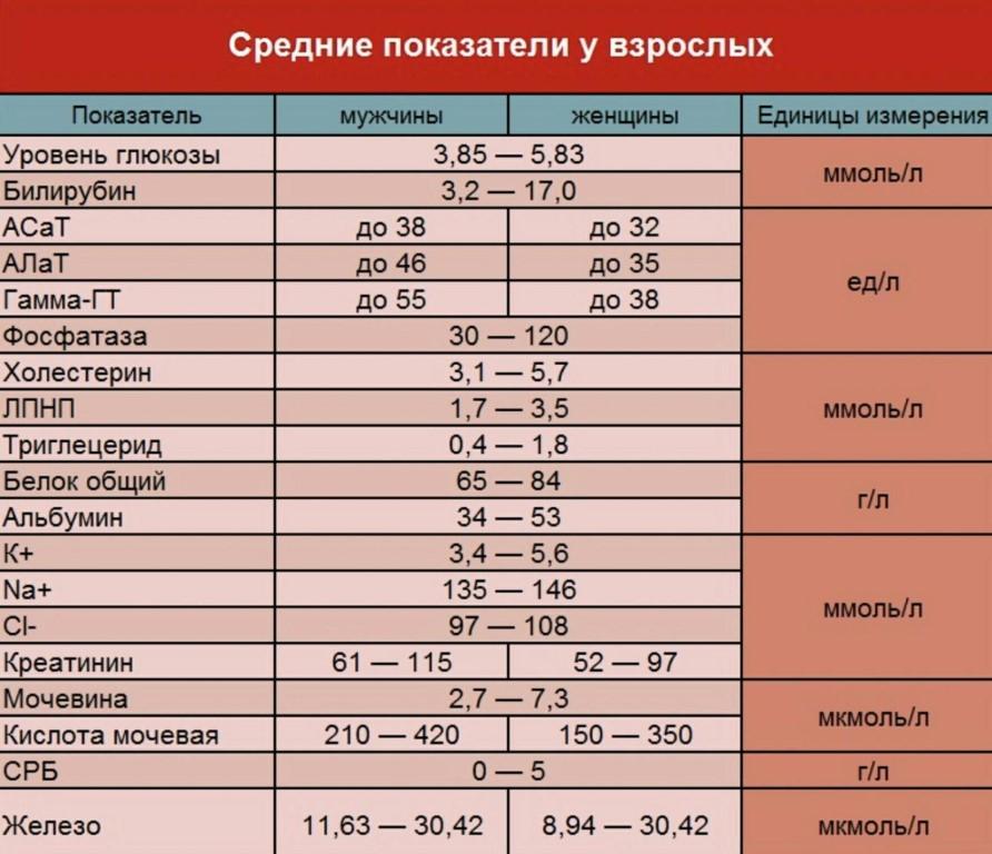 Расшифровка биохимического анализа крови у детей: таблица, нормы