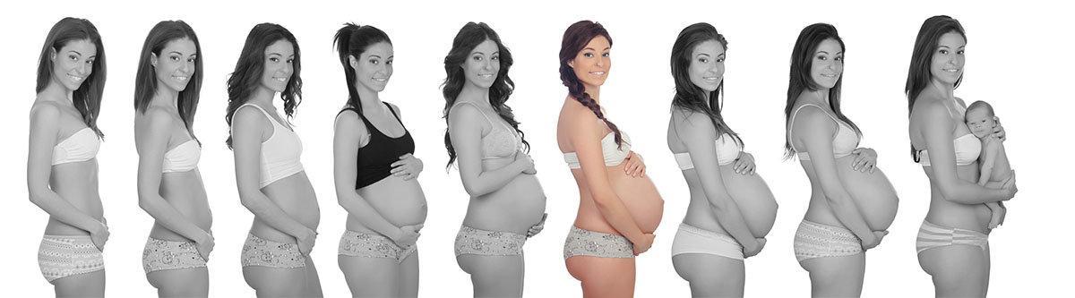На какой неделе беременности начинает расти живот? в каком месяце появляется округлость на животике у худеньких и большая – у полных? особенности при первой и повторной беременностях