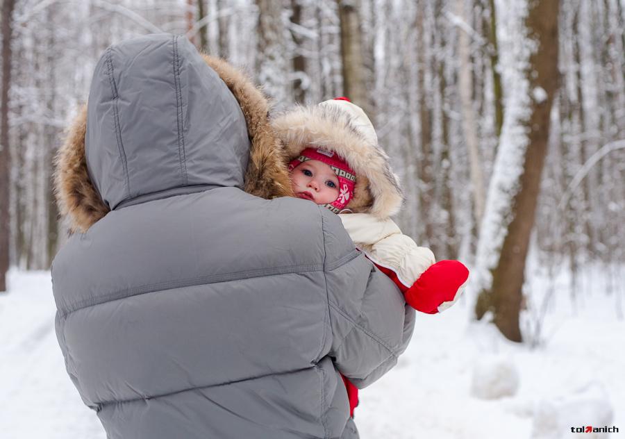 Сколько гулять с ребёнком зимой