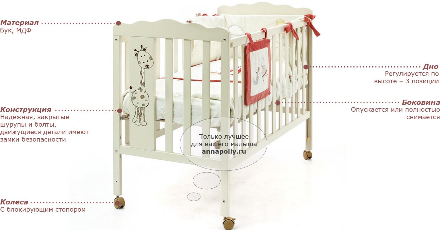 Какую кроватку выбрать для новорождённого: критерии и виды