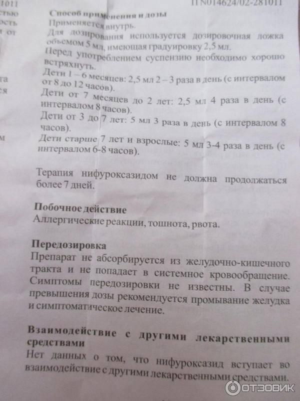 """""""энтерофурил"""" для детей: инструкция по применению суспензии - детского сиропа при рвоте, отзывы"""