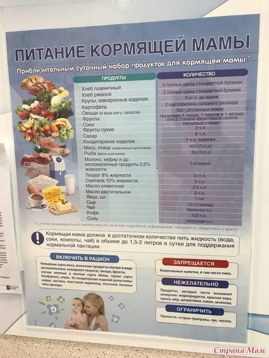 Диетическое питание кормящей мамы после родов (меню первого месяца + разрешенные продукты)