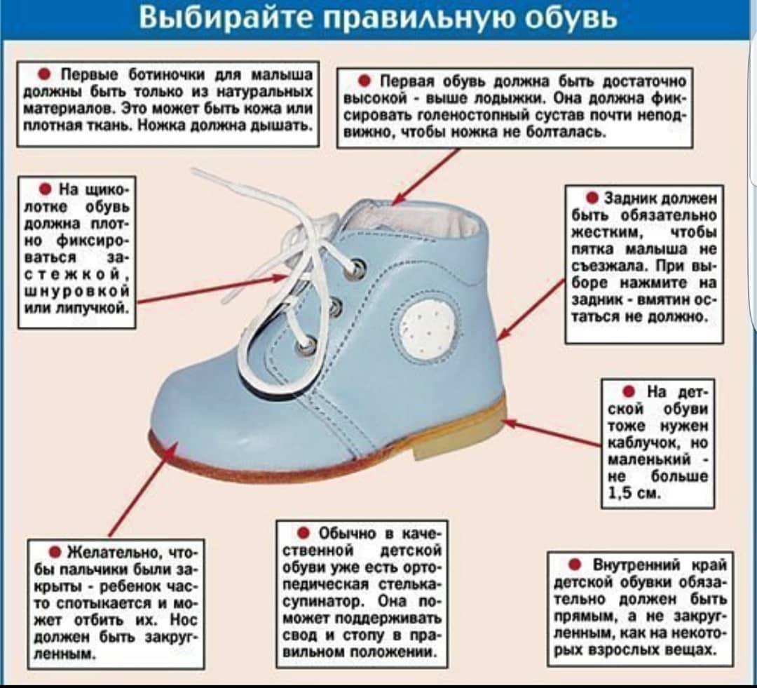 Как правильно выбрать обувь для маленького ребенка