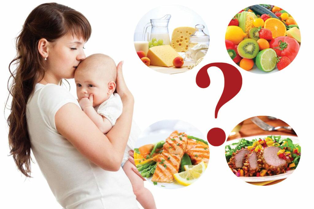 Диета для кормящих мам, обязательные продукты, примерное меню