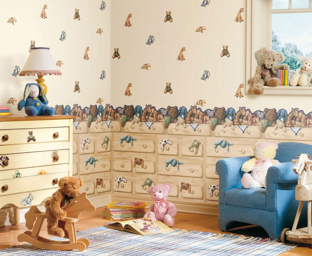 Комбинирование обоев в детской: 30 фото, 7 способов и 10 советов