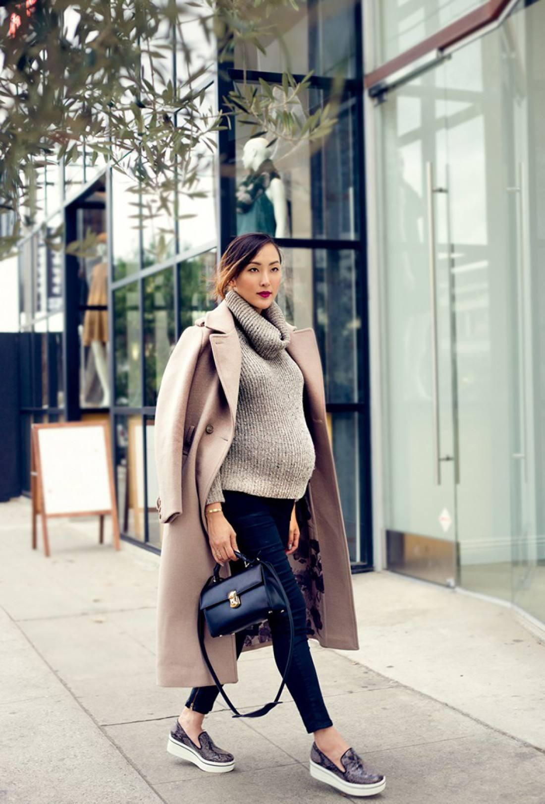 Как модно одеваться при беременности: 15 шагов