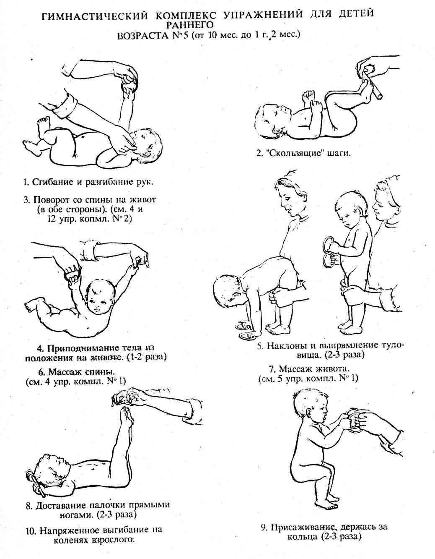 Массаж, гимнастика для ребенка 10 месяцев