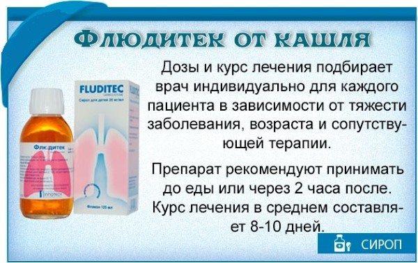 Сироп флюдитек — инструкция по применению для детей, дешевые аналоги от кашля