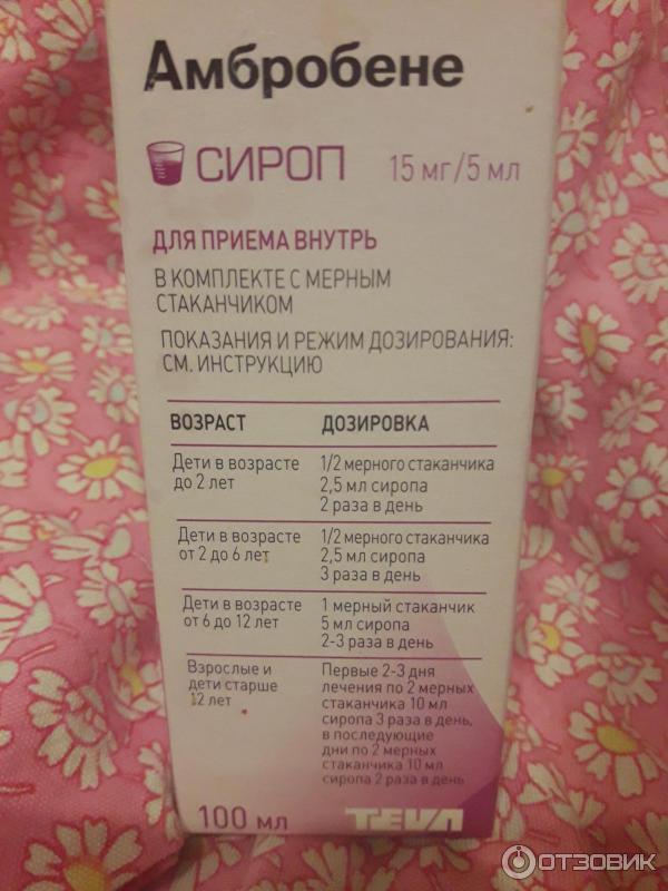 Амбробене сироп для детей - инструкция по применению
