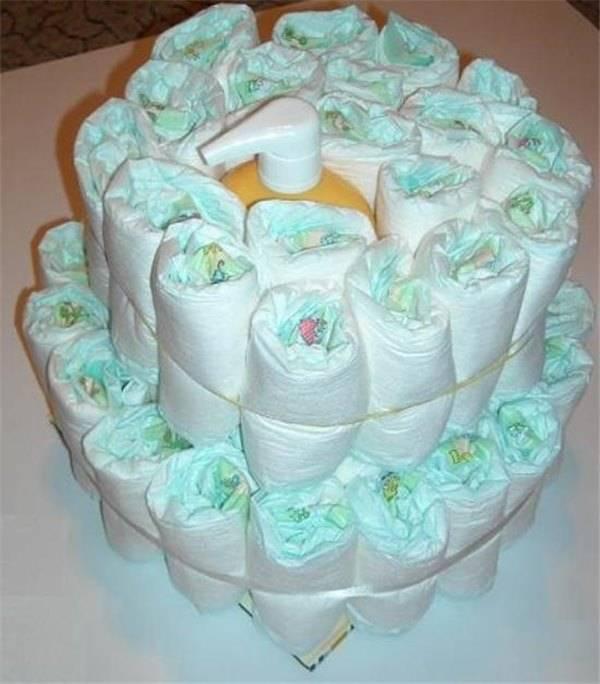 Как сделать торт из памперсов своими руками | пошаговый мастер класс с фото