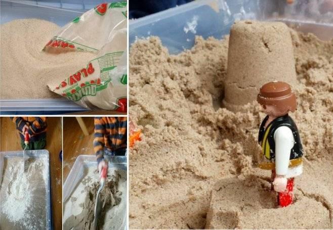Лучшие рецепты как сделать кинетический песок в домашних условиях
