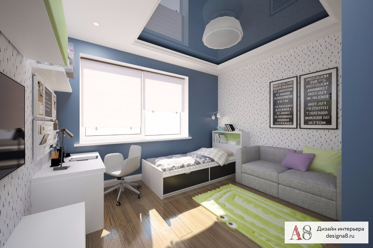Детская комната 10 кв. м +50 вариантов дизайна на фото