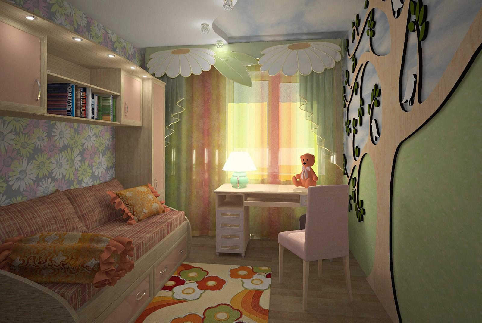 Детская и гостиная в одной комнате | 45 фото идей