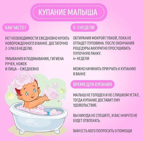 Что нужно знать перед тем, как купать новорожденного ребенка первый раз дома в ванночке?