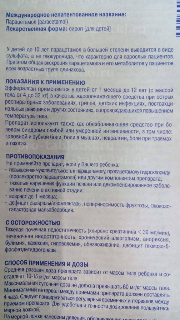 Детский парацетамол в сиропе и других формах: инструкция