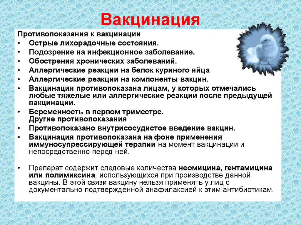 Прививка от гриппа: описание (принцип действия), реакция, противопоказания, лучшие вакцины
