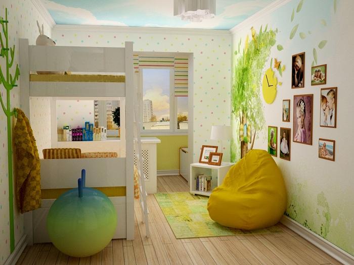 Детская с балконом - идеи для интерьера с фото