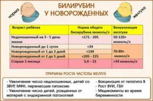 Норма билирубина у новорожденных по дням в 1-й месяц жизни