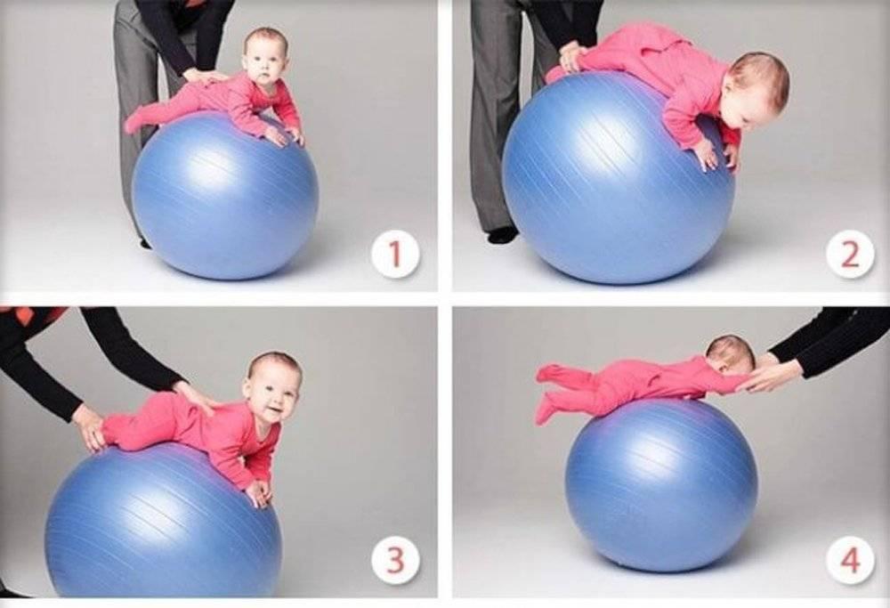 Упражнения на фитболе для грудничков от 1 месяца и старше + видео