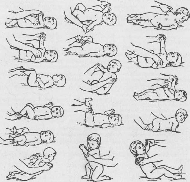 Гимнастика и массаж для новорожденных в домашних условиях: фото, видео комплекса упражнений