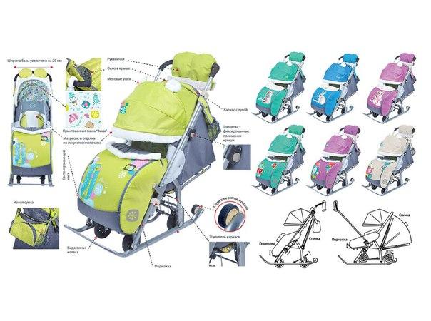 11 лучших санок-колясок для детей
