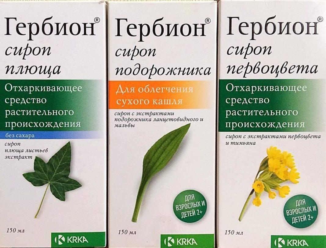 """""""Гербион"""": инструкция по применению сиропа для детей от сухого и влажного кашля"""