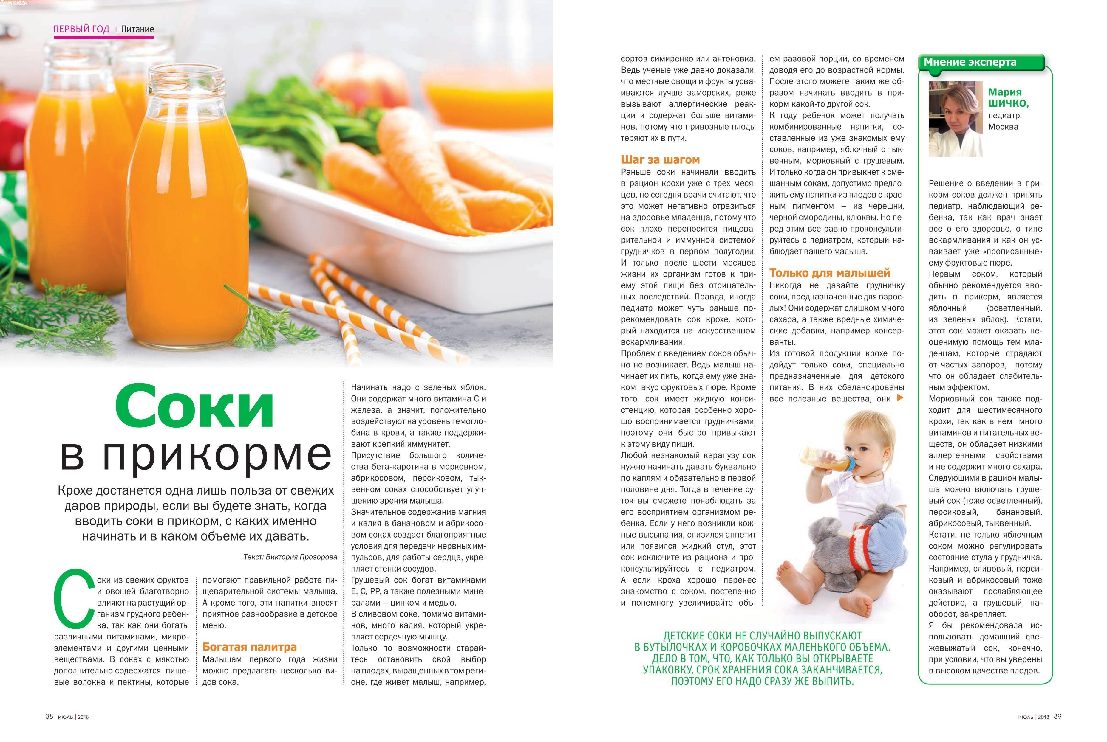 Как вводить сок в прикорм   уроки для мам