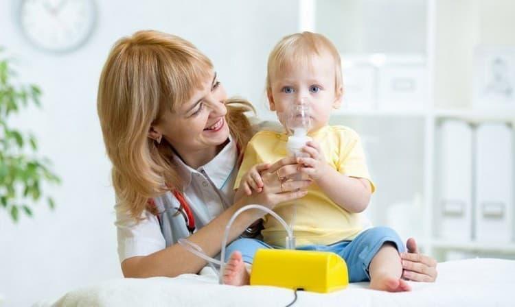 Ингаляции от сухого кашля ребенку 3 года