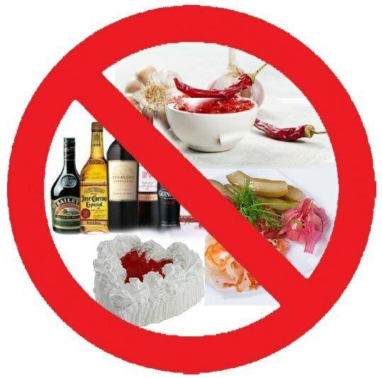 Список запрещенных продуктов для детей. питание ребенка при болезни
