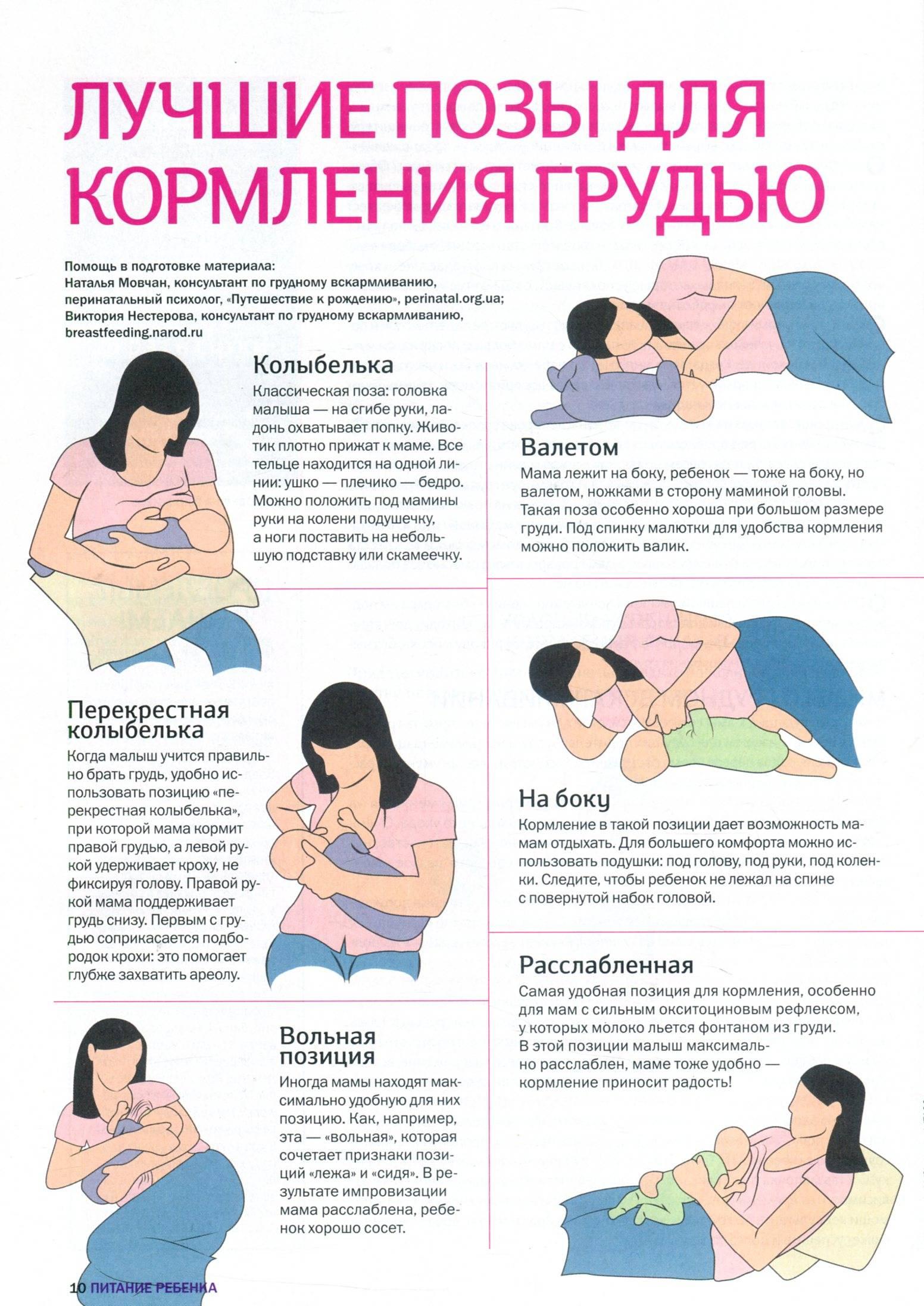 Позы для кормления грудью, фото поз кормления новорожденного ребенка грудью