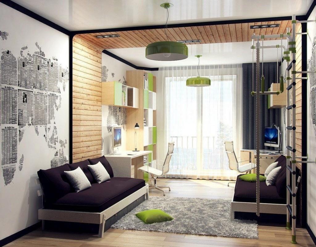 Дизайн детской комнаты 14-20 кв м для девочки или мальчика: планировка интерьера и расстановка мебели с фото