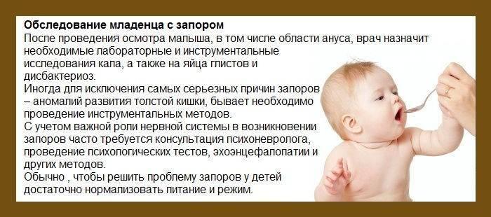Запоры у новорожденных при искусственном вскармливании: лечение у грудничка