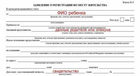 Какие документы нужны для прописки ребенка по месту жительства в квартиру собственника: необходимые бумаги для регистрации, подтверждающие возможность прописать несовершеннолетнего и бланк уполномочия от супруги на оформление