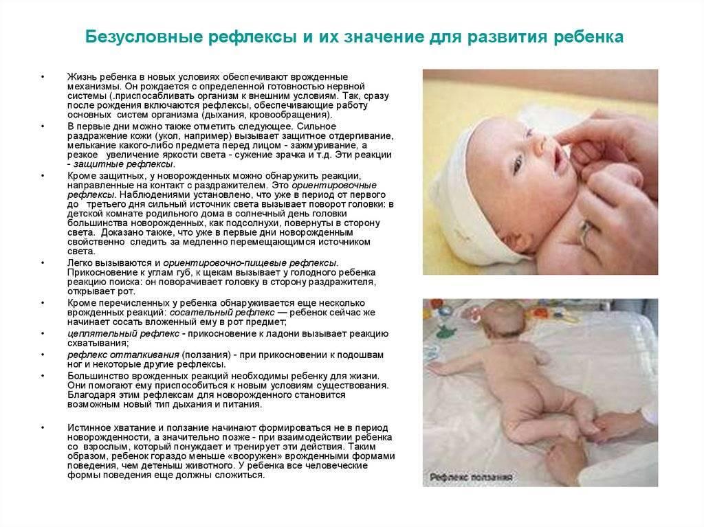 Рефлексы новорожденных и грудных детей: врожденные безусловные и условные / mama66.ru