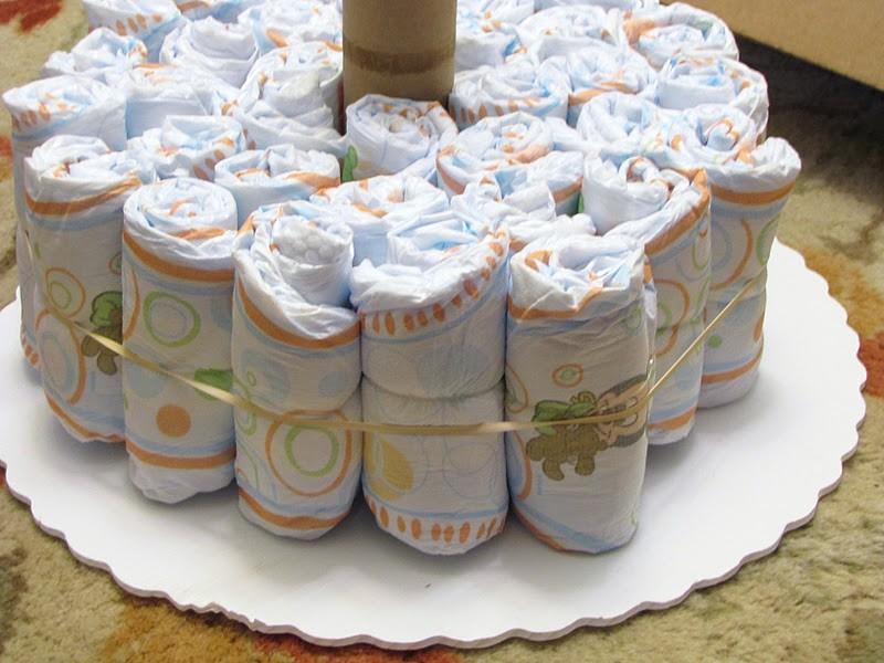 Торт из памперсов своими руками - семейный досуг