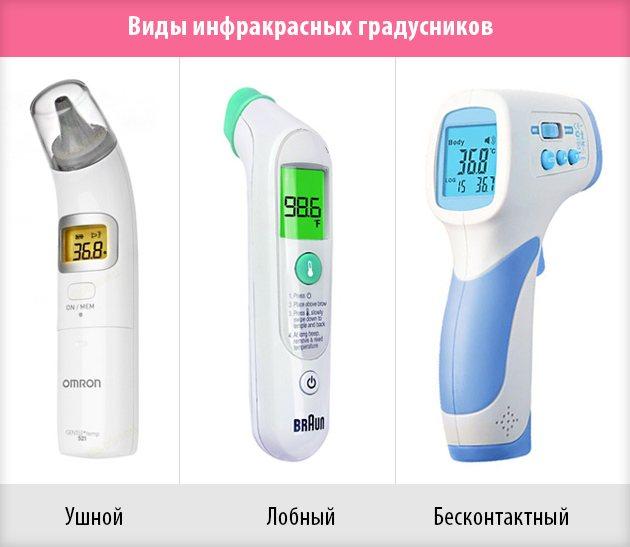 Как померить температуру грудничку - способы и виды градусников