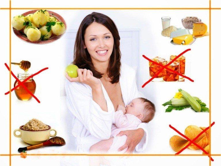 Фрукты, ягоды и кормящая мама