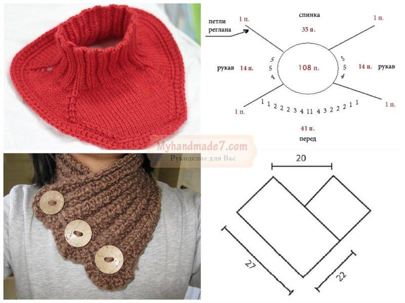 Манишка спицами для ребёнка: описание аксессуара, схемы вязания для начинающих