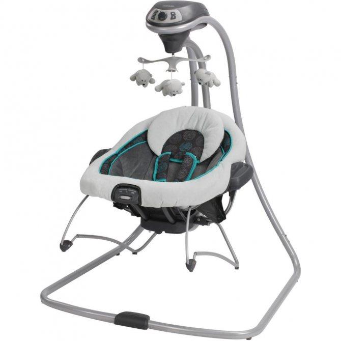 Электронные качели для новорожденных (95 фото) — детские электрические качели и отзывы, какие лучше для детей