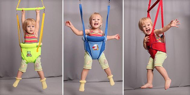 Прыгунки для детей: за и против, какие можно выбрать?