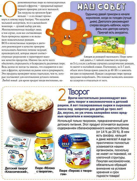 Вводим прикорм: творог, кефир - mamapedia.com.ua