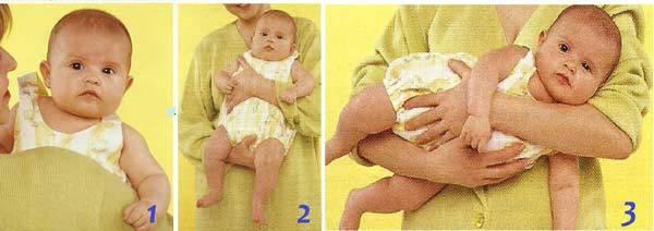 Как нужно правильно держать новорожденного ребенка