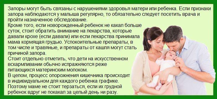 Новорожденный не какает сутки: что делать